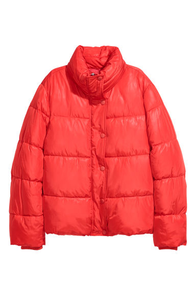 Padded jacket - Bright red - Ladies | H&M CN