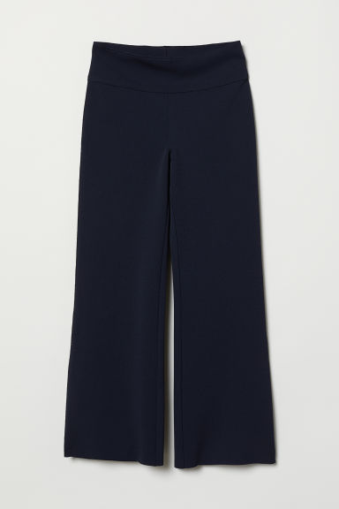 Flared Pants - Dark blue - Ladies | H&M US