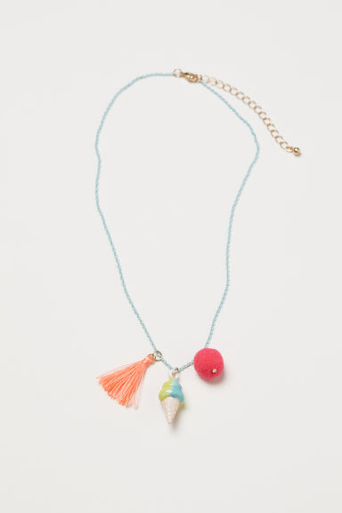 Necklace with pendants - Light turquoise - Kids | H&M