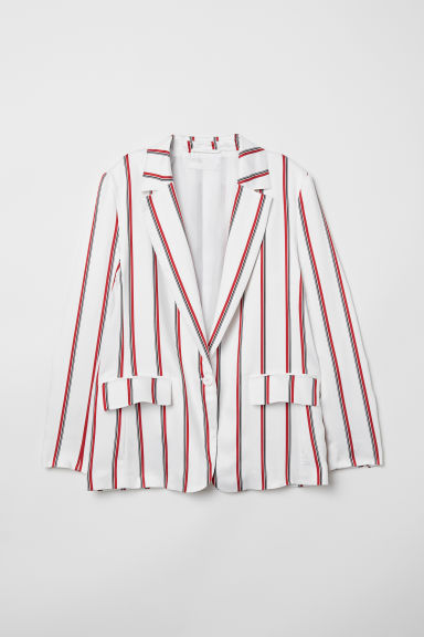 Striped jacket - White - Ladies | H&M