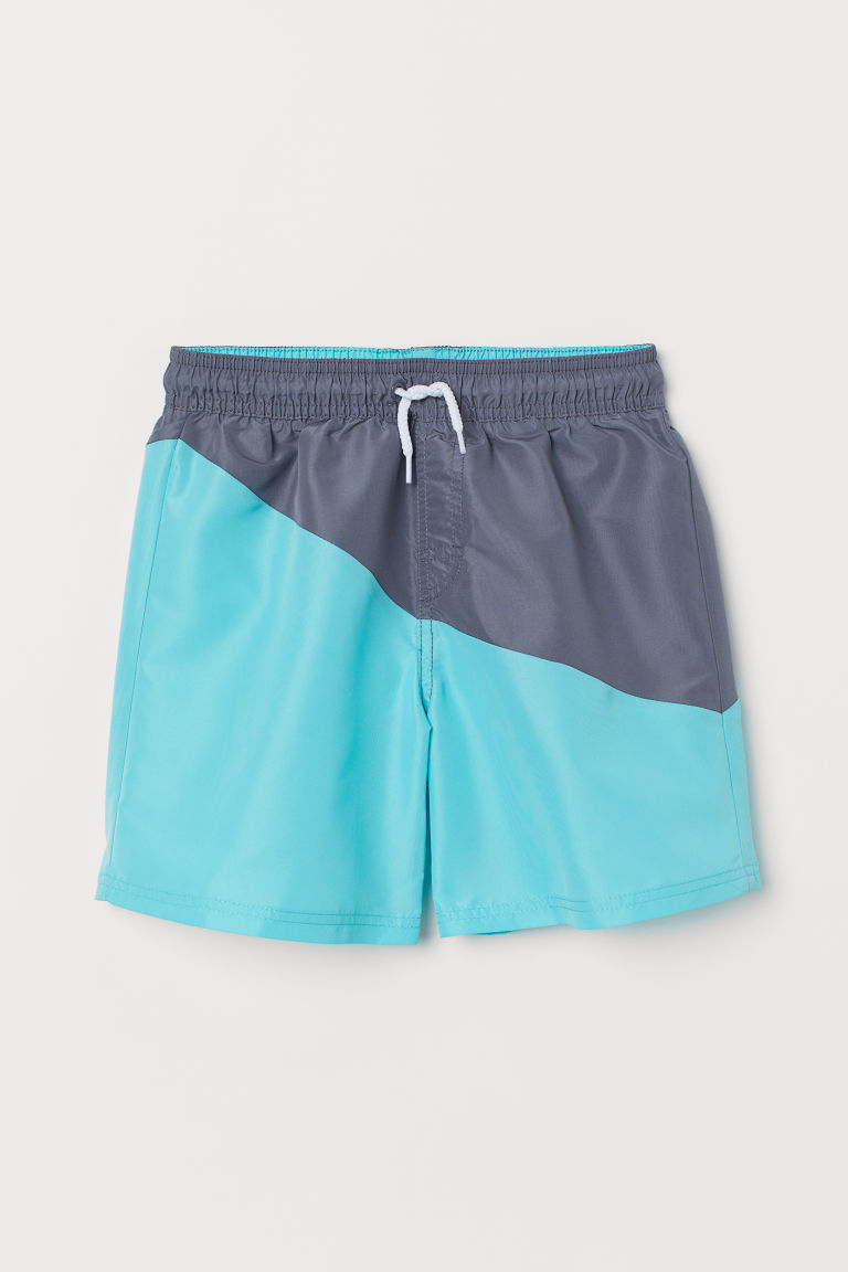 Swim shorts - Light turquoise/Grey - Kids | H&M GB