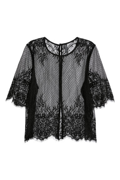 Lace blouse - Black -  | H&M CN