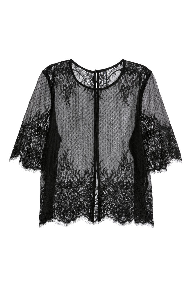 fadd27c2368e12 Lace blouse - Black -