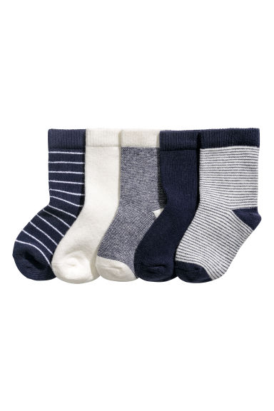5-pack socks - Dark blue - Kids | H&M CN