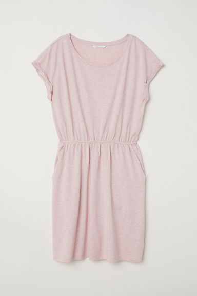 Jersey dress - Powder pink marl - Ladies | H&M