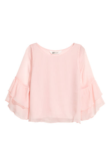 Chiffon blouse with flounces - Light pink - Kids | H&M