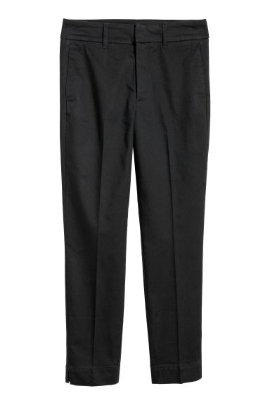 Cigarette trousers - Black -  | H&M CN