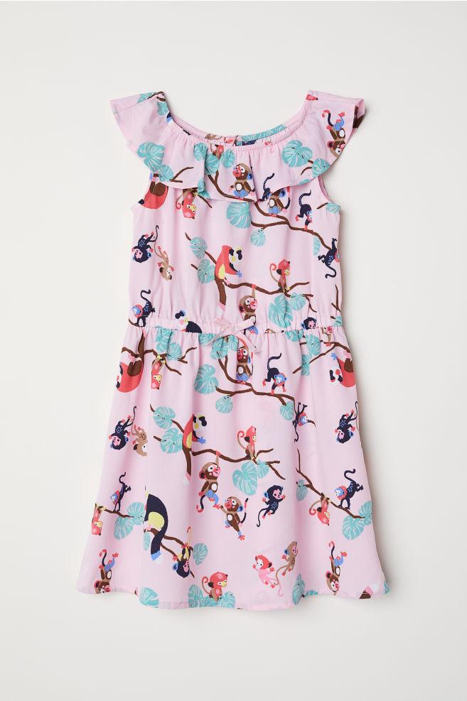 97a858d1d4 Mintás ruha - Rózsaszín/majmok - GYEREK | H&M ...
