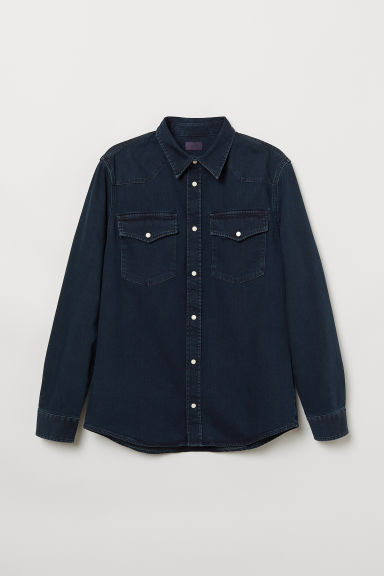 Denim shirt - Dark blue - Men | H&M
