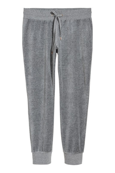 H&M+ Velour joggers - Grey - Ladies | H&M
