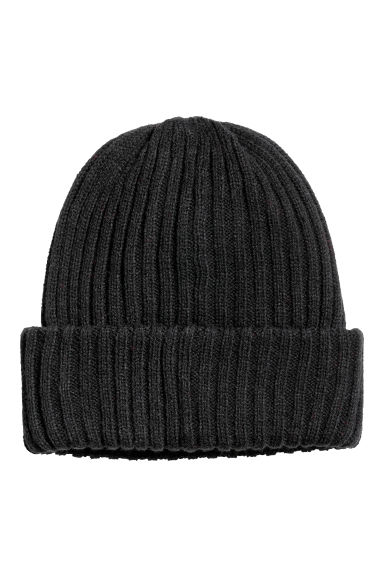 Ribbed hat - Black -  | H&M