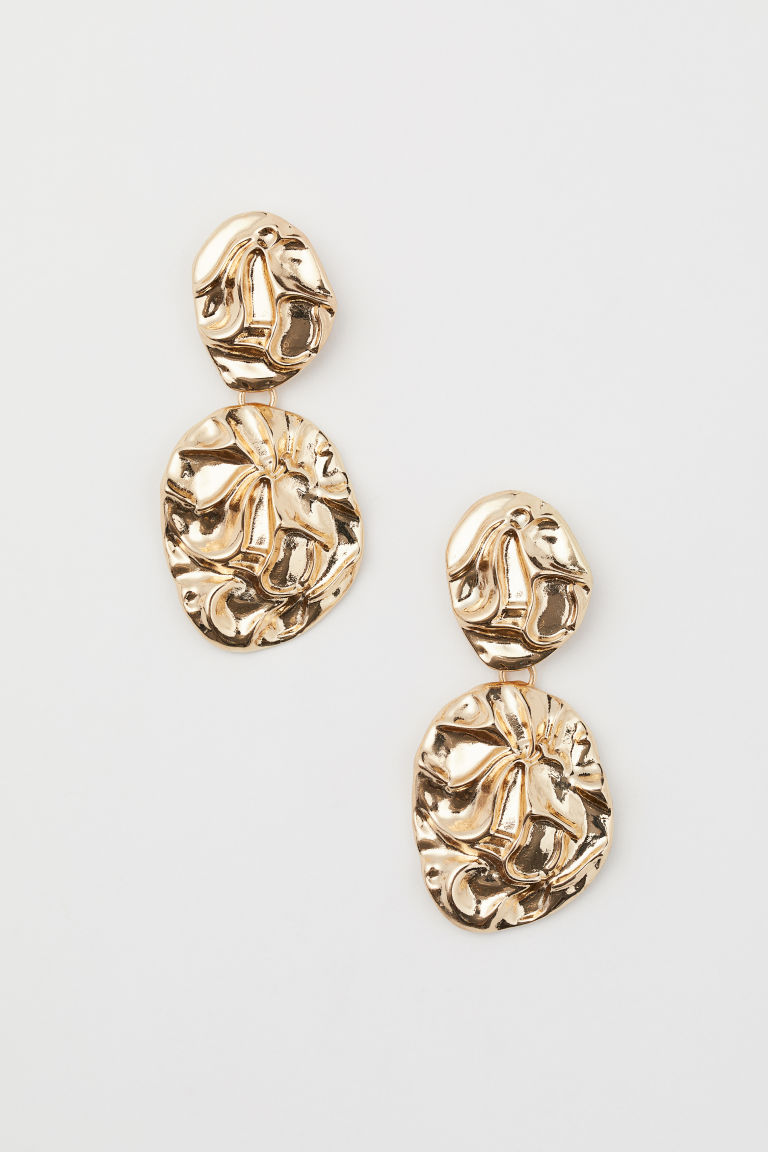 Metal earrings - Gold-coloured - Ladies | H&M GB