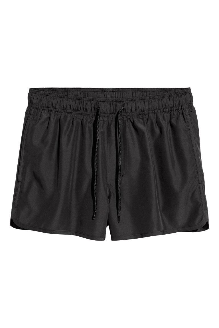 Short swim shorts - Black - Men | H&M CN