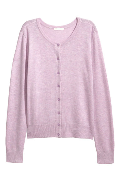 Fine-knit cardigan - Light purple - Ladies | H&M IE