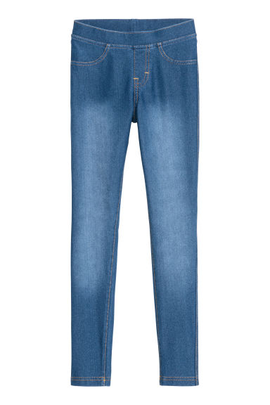 Jersey leggings - Dark blue denim - Kids | H&M CN