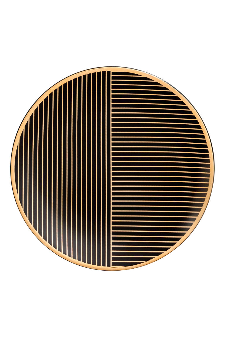 Patterned plate - Black - Home All | H&M GB