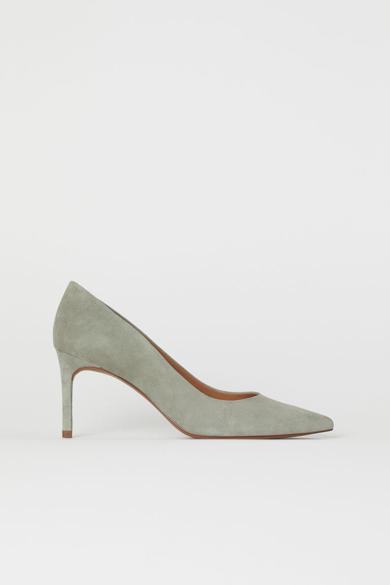 Pumps - Mintgrün/Veloursleder - Ladies | H&M DE
