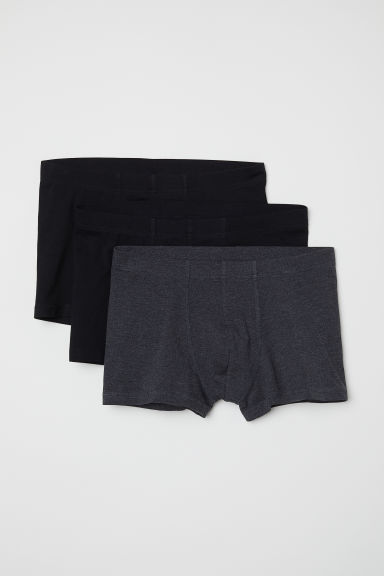 3-pack short trunks - Black/Multicoloured - Men | H&M