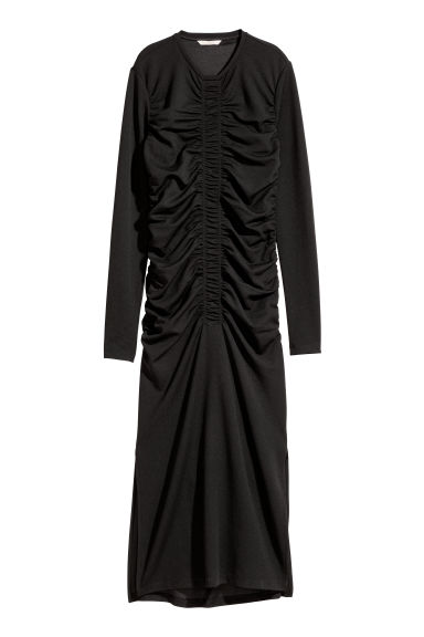 Draped dress - Black -  | H&M GB
