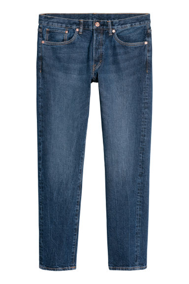 Slim Straight Jeans - Denimblå -  | H&M SE