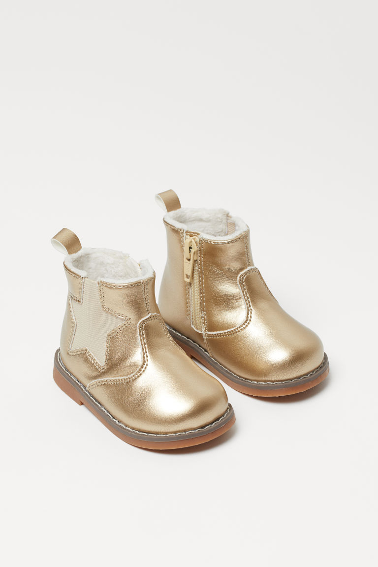 Warm-lined Boots - Gold-colored - Kids | H&M US