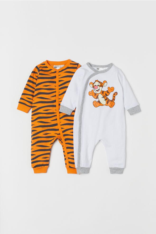 3e9ca9cc8ed8 2-pack all-in-one pyjamas - Orange Winnie the Pooh - Kids