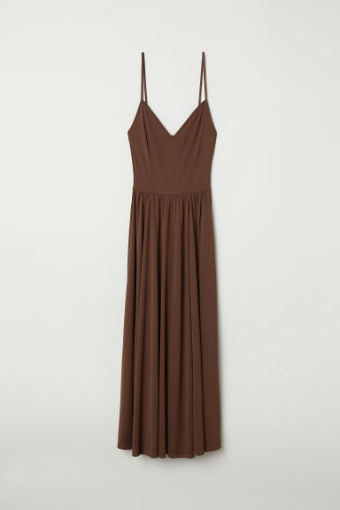 Sleeveless dress - Dark brown - Ladies | H&M