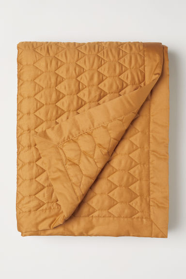 Quilted bedspread - Mustard yellow - Home All | H&M CN