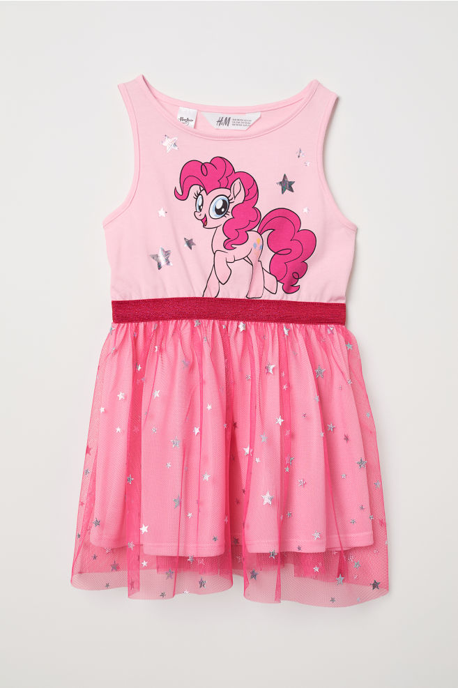 a668d65bf Dress with Tulle Skirt - Pink/My Little Pony - Kids | H&M ...