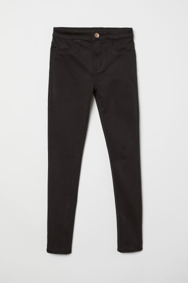 Twill trousers Slim Fit - Black - Kids | H&M