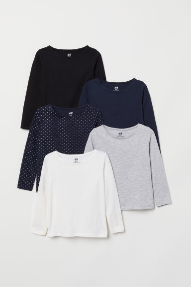 5-pack jersey tops - White - Kids | H&M