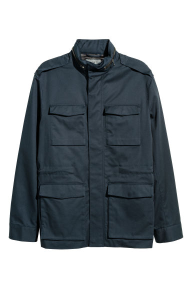 Cotton twill cargo jacket - Dark blue -  | H&M IE