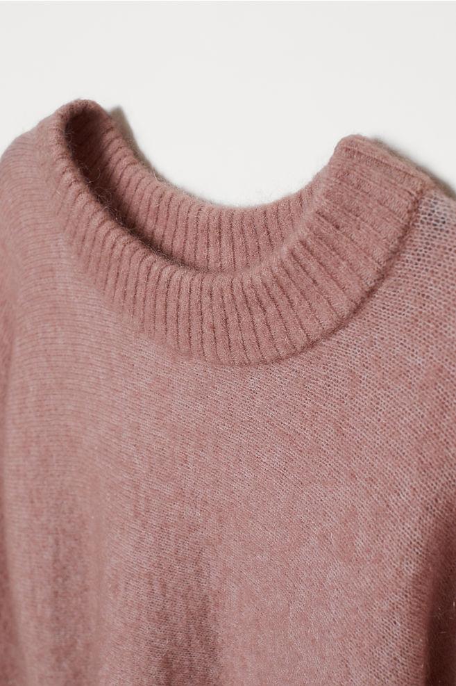 7abb16c900bd1 Knitted mohair-blend jumper - Powder pink - Ladies