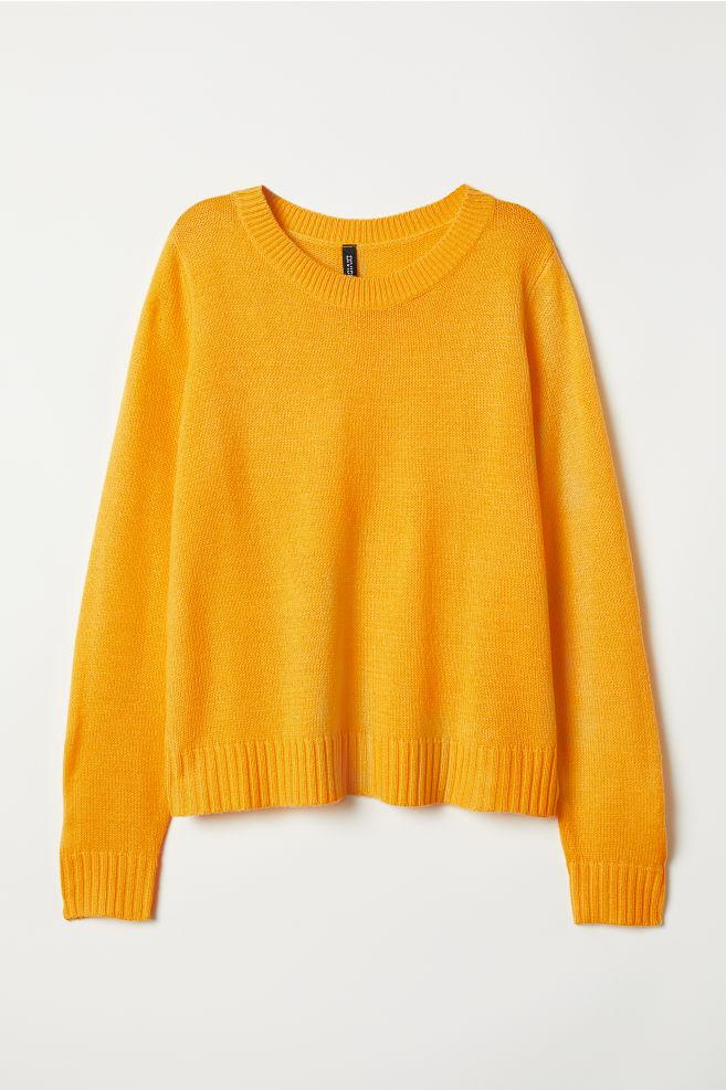 Kötött pulóver - Sárga - NŐI  988fd131a3