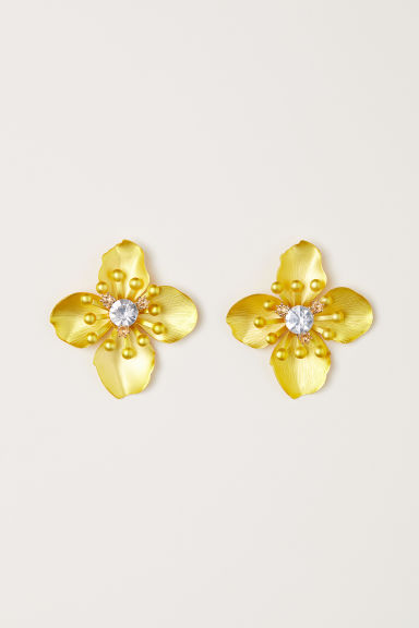 Metal earrings - Yellow -  | H&M CN