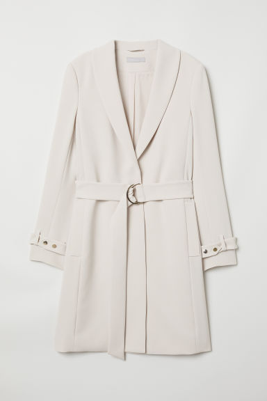 Coat with a belt - Light beige - Ladies | H&M CN