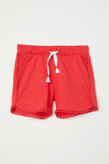 Jersey shorts - Bright red - Kids | H&M