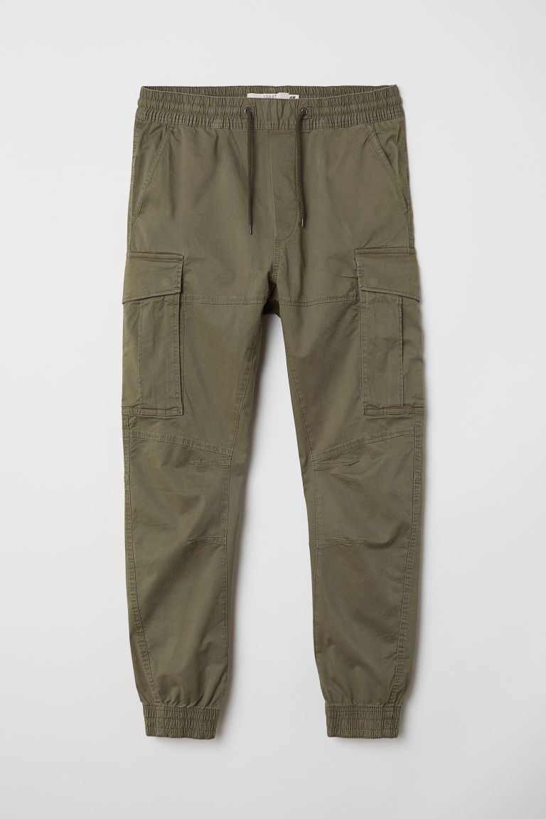 Cargo joggers - Khaki green -  | H&M IN