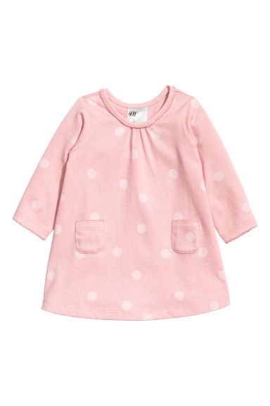 Jersey dress - Old rose/Spotted - Kids | H&M