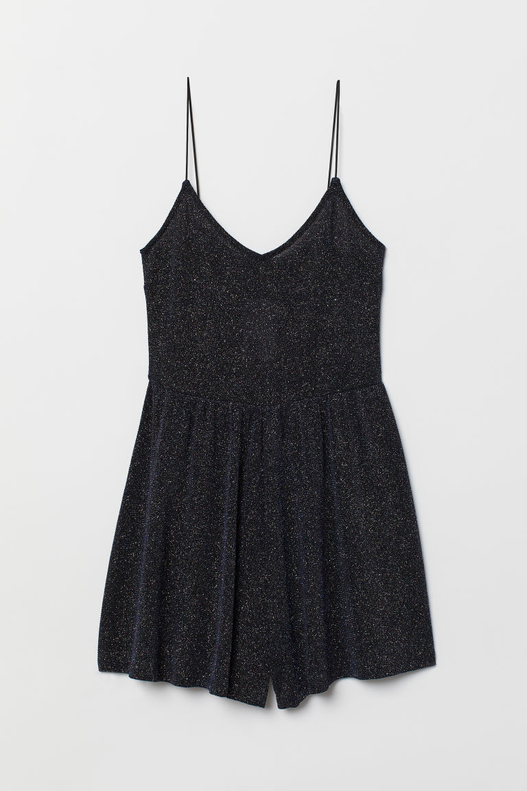 Playsuit - Blue/Glittery -  | H&M CN