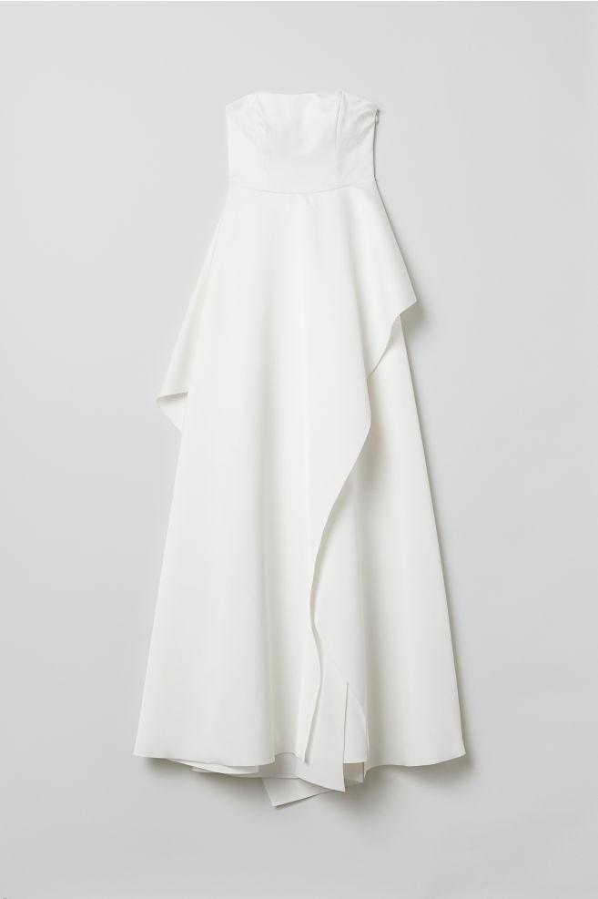 Hm Wedding Dress.Long Bandeau Dress