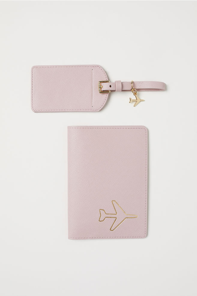 2d320e2d6 Passport cover and luggage tag - Old rose - Ladies