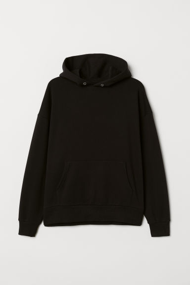H&M+ Oversized Hooded Top - Black - Ladies | H&M US