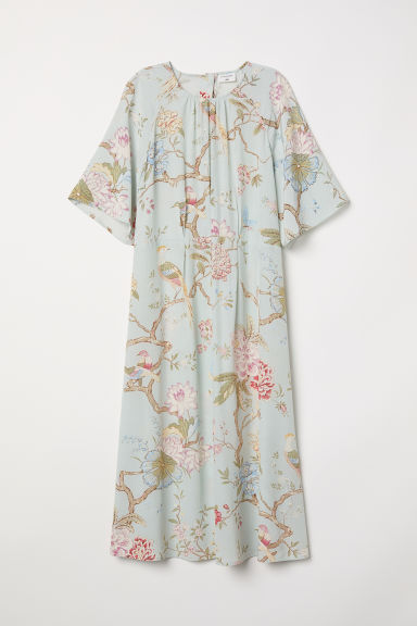 Patterned dress - Light green/Floral - Ladies | H&M