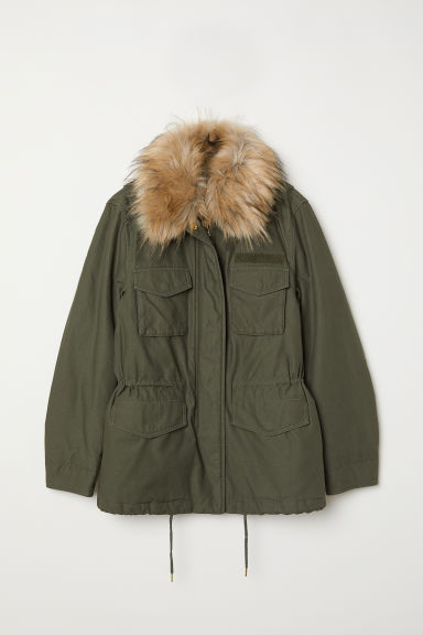 Short parka - Dark green - Ladies | H&M CN