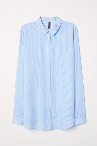 Viscose shirt - Light blue/White striped - Ladies | H&M CN