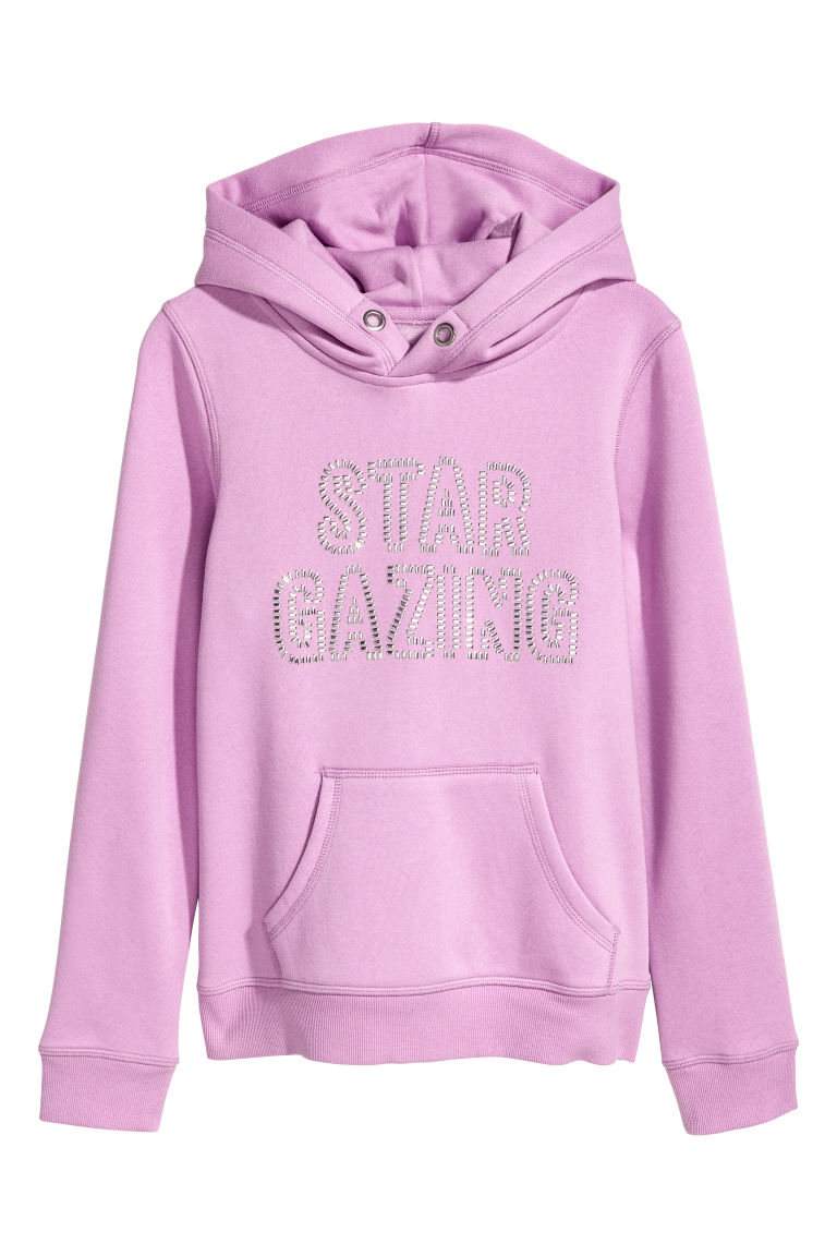 Hooded top with a motif - Purple - Kids | H&M