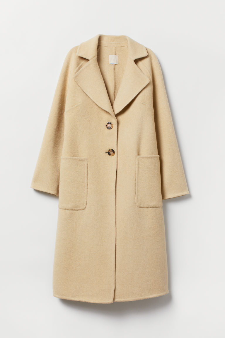 Wool-blend coat - Beige - Ladies | H&M CN