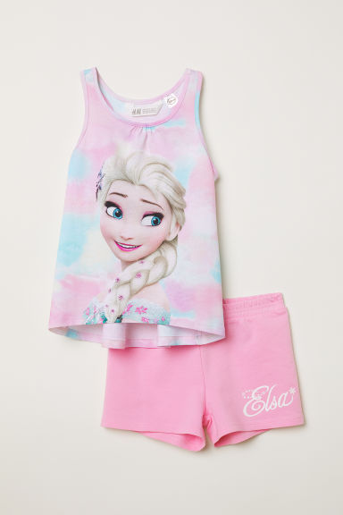 Vest top and shorts - Light pink/Frozen -  | H&M