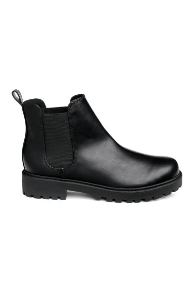 Chunky-sole Chelsea boots - Black - Ladies | H&M CN
